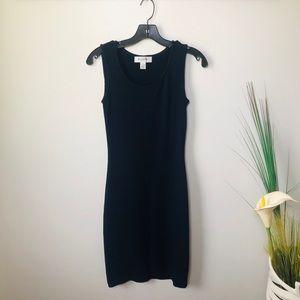 Navy Blue Santana Knit Dress. Basic Collection.